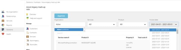 KB Autotask Azure lagacy mark-up rate
