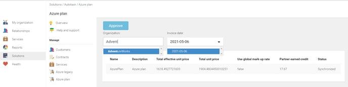 KB Autotask Azure plan mark-up rate